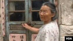陈光诚的母亲在山东东师古村