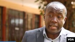 Geoffrey Thige, CEO RefuSHE Kenya. (VOA/videgrab)