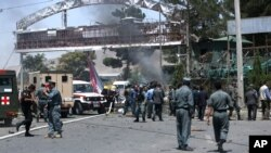 Forças de segurança no local do atentado
