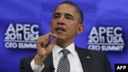 Tổng thống Hoa Kỳ Barack Obama phát biểu tại hội nghị thượng đỉnh APEC ở Honolulu, Hawaii