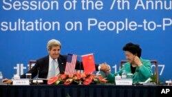 Američki državni sekretar Džon Keri i kineska vicepremijerka Liu Jandong
