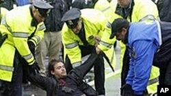 워싱턴 DC의 K 스트리트 점령 시위.