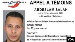 Appel à témoins contre Salah Abdeslam (capture d'écran).