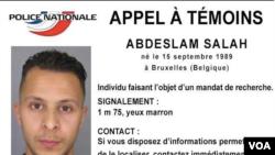 Appel à témoin contre un suspect des attentats de Paris (capture d'écran)