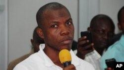 20일 나이지리아 아부자의 비밀경찰에 의해 체포된 테러 용의자.