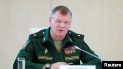 روسی وزارت دفاع کے ترجمان میجر جنرل ایگور کوناشینکوف۔ فائل فوٹو
