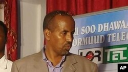 Bashir Nur Gedi, head of Shabelle Media Network, the second biggest in the Horn of Africa nation, attends a meeting moments before he was killed in his home in southern Mogadishu, Somalia (File Photo)