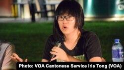 身兼支聯會副主席的大律師鄒幸彤表示,相比中國以往有關偷渡的案件,10名港人被判7個月至3年的監禁, 刑罰明顯是太重,她質疑中國當局以重判10名港人,企圖對香港社運製造寒蟬效應 (攝影:美國之音湯惠芸)