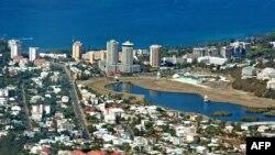 Les quartiers résidentiels situés dans le sud de la ville, à Nouméa, le 12 décembre 2008.