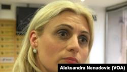 Predsednica Udruženja građana zaduženih u švajcarskim francima, Jelena Pavlović, Foto: VOA