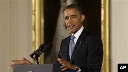 14일 백악관에서 기자회견을 가진 바락 오바마 미국 대통령.