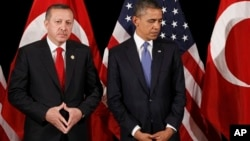 Реджеп Тайип Эрдоган (слева) и Барак Обама. Архивное фото, март 2012г.