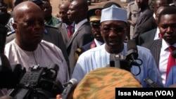 Roch Kaboré et Idriss Deby, Ouagadougou, Burkina Faso, 21 janvier 2016.