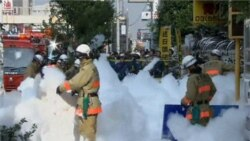 Foam Snarls Tokyo Streets After Traffic Accident