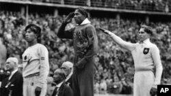 Jesse Owens en los juegos de Berlín.