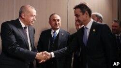 Cumhurbaşkanı Recep Tayyip Erdoğan ve Yunanistan Başbakanı Kriakos Miçotakis