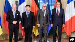 Министры иностранных дел Франции, Украины, Германии и России в преддверии минских соглашений