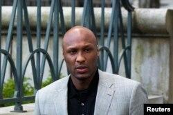 FILE - Basketball player Lamar Odom.