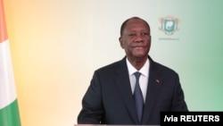 Perezida wa Cote d'Ivuware Alassane Ouattara