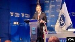 نیتان سیلز هماهنگکننده امور ضدتروریسم دولت آمریکا در مرکز ویلسون در واشنگتن - ۲۱ تیر ۱۳۹۸