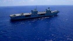 英航母編隊穿行南中國海 中國會作何反應?