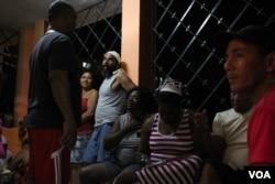 Berta Soler on the evening before her March 20 arrest, Havana. (V. Macchi/VOA)