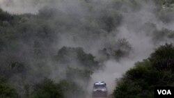Impresionante imágen del rally Dakar Argentina-Chile, el próximo año la competencia se extenderá a otros países de la región.