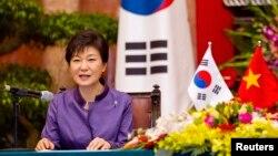 南韓總統朴槿惠 (資料圖片)