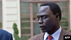James Gatdet Dak, un porte-parole de l'ancien vice-président à Addis Ababe, /ethiopie, 9 mai 2014.