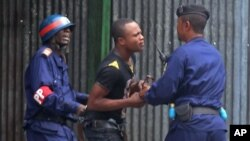 ACHIVES - Manifestations à Kinshasa, janvier 2015