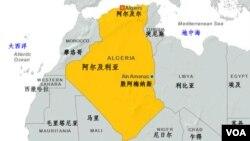 阿尔及利亚位置图