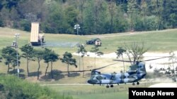 26일 오전 경북 성주군 성주골프장에 사드(고고도 미사일 방어체계·THAAD)가 전격 배치됐다.