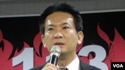 民進黨發言人林俊憲(美國之音申華拍攝)