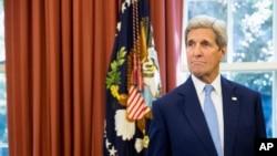 美國國務卿克里9月25日在白宮資料照。