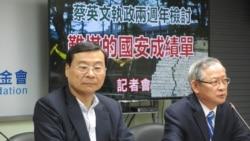 台湾在野党国民党智库:国家安全面临严峻考验
