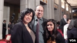 Dr. Nina Ahmad, Commissioner, President's Advisory Commission on AAPIs with family.