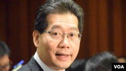 香港商務及經濟發展局局長蘇錦樑(VOA湯惠芸攝)