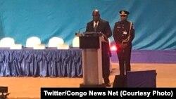 "Président Félix Tshisekedi azwi malabo na bokutani ya nkita ""Investir en Afrique"" na Kintele, Brazzaville, Congo-Brazzaville, 10 septembre 2019. (Twitter/Congo News Net)"
