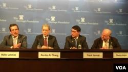 傳統基金會討論美國新政府主政下的美台關係(美國之音鍾辰芳拍攝)