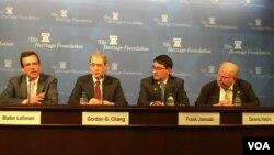 传统基金会讨论美国新政府主政下的美台关系(2016年11月17日,美国之音钟辰芳拍摄)