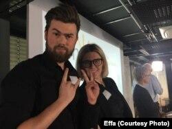 Співдиректори Effa Дар'я Василенко та Ілля Кічук на конкурсі Clim@ у Франкфурті, Німеччина, 25 червня 2018 р.