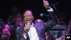 FILE - Edwin Hawkins appears at the Apollo Theater Spring Gala and 80th Anniversary Celebration in New York, June 10, 2014.