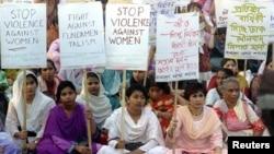 اعتراضها به خشونت علیه زنان در بنگلادیش
