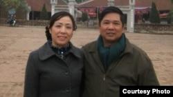 Ông Cù Huy Hà Vũ và vợ, bà Nguyễn Thị Dương Hà đã tới thủ đô Washington hôm 7/4/2014.