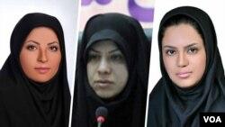 از راست مهنا محمدی موحد، شیفته بدرآذر، پریسا اینانلو
