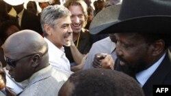 Джордж Клуни и Сальва Киир