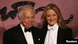 رلف لورن و همسرش ریکی ان لو - بیر، مراسم اهدای جوایز مد ۲۰۱۶