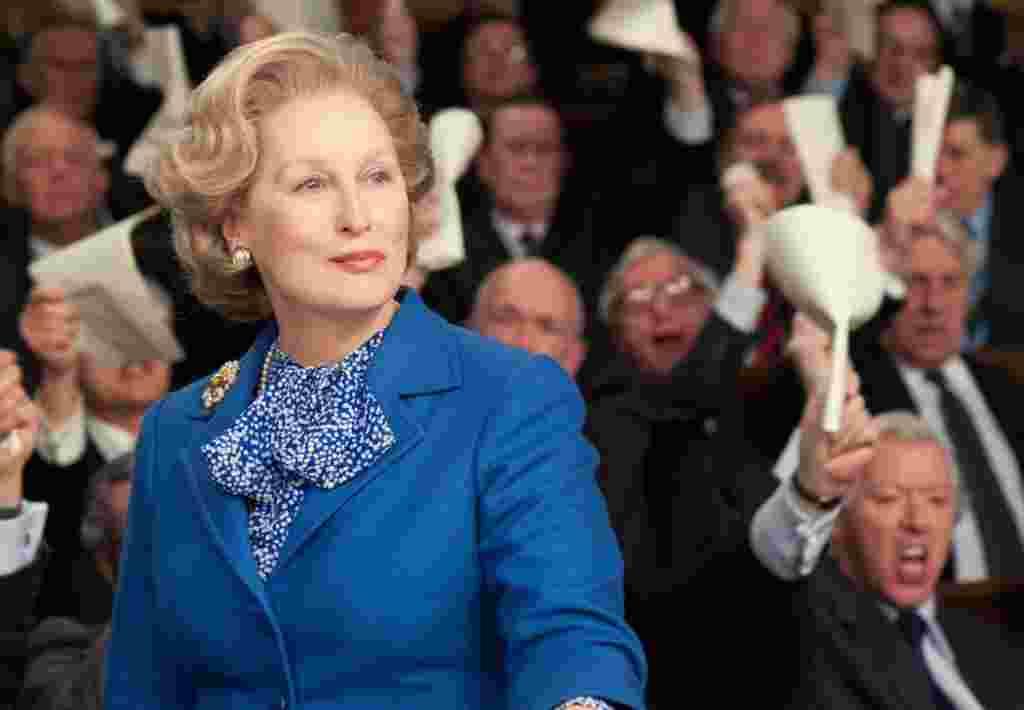 """Meryl Streep, en """"La dama de hierro""""."""