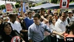Lidè opozisyon an nan Venezuela Leopoldo Lopez
