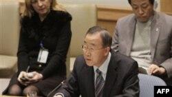 Генеральный секретарь ООН Пан Ги Мун. Нью-Йорк. 26 февраля 2011 года